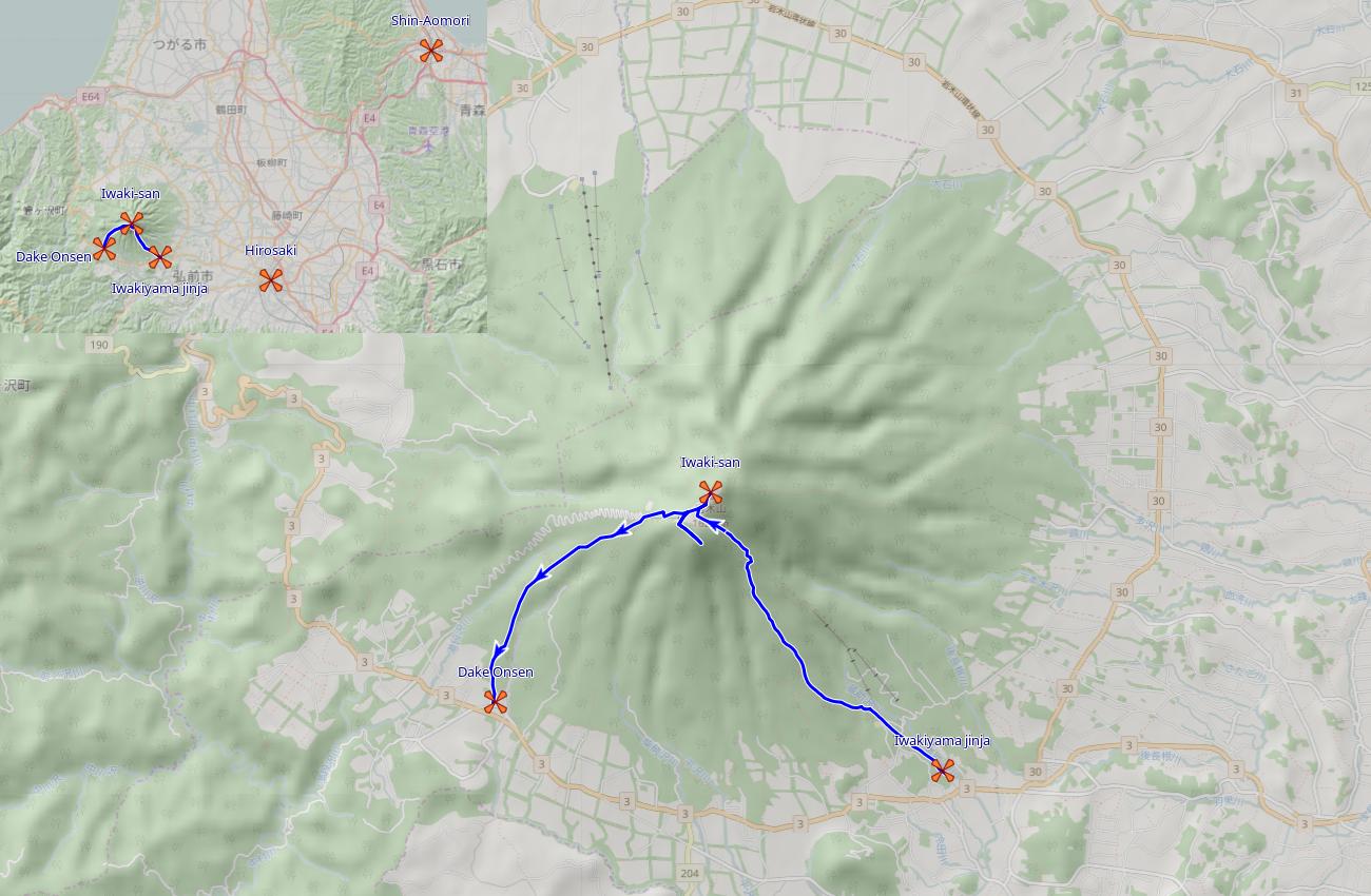 Iwaki-san: Kultivierter Vulkan images/iwaki-san/map.png
